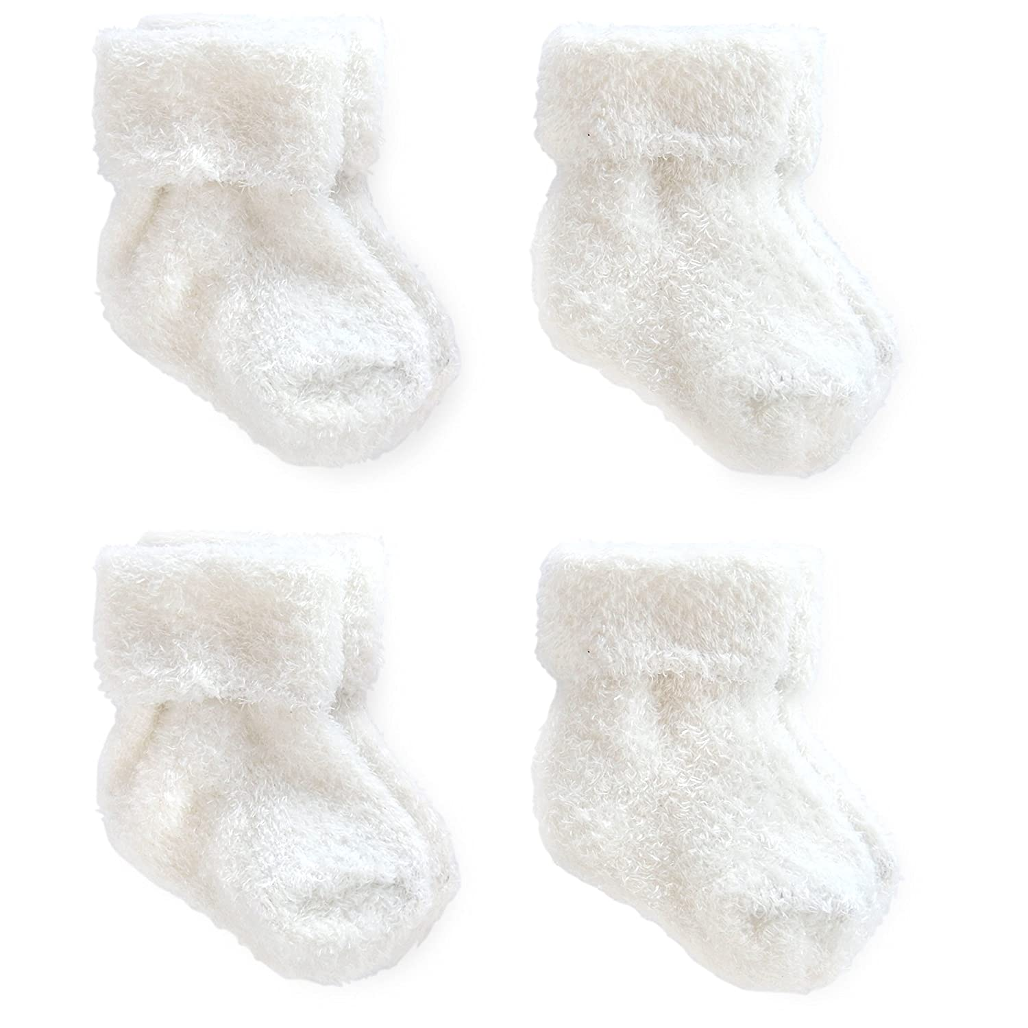 Just One You By Carter's Unisex_Baby 4-Pack Ankle Sock Set - White on sale