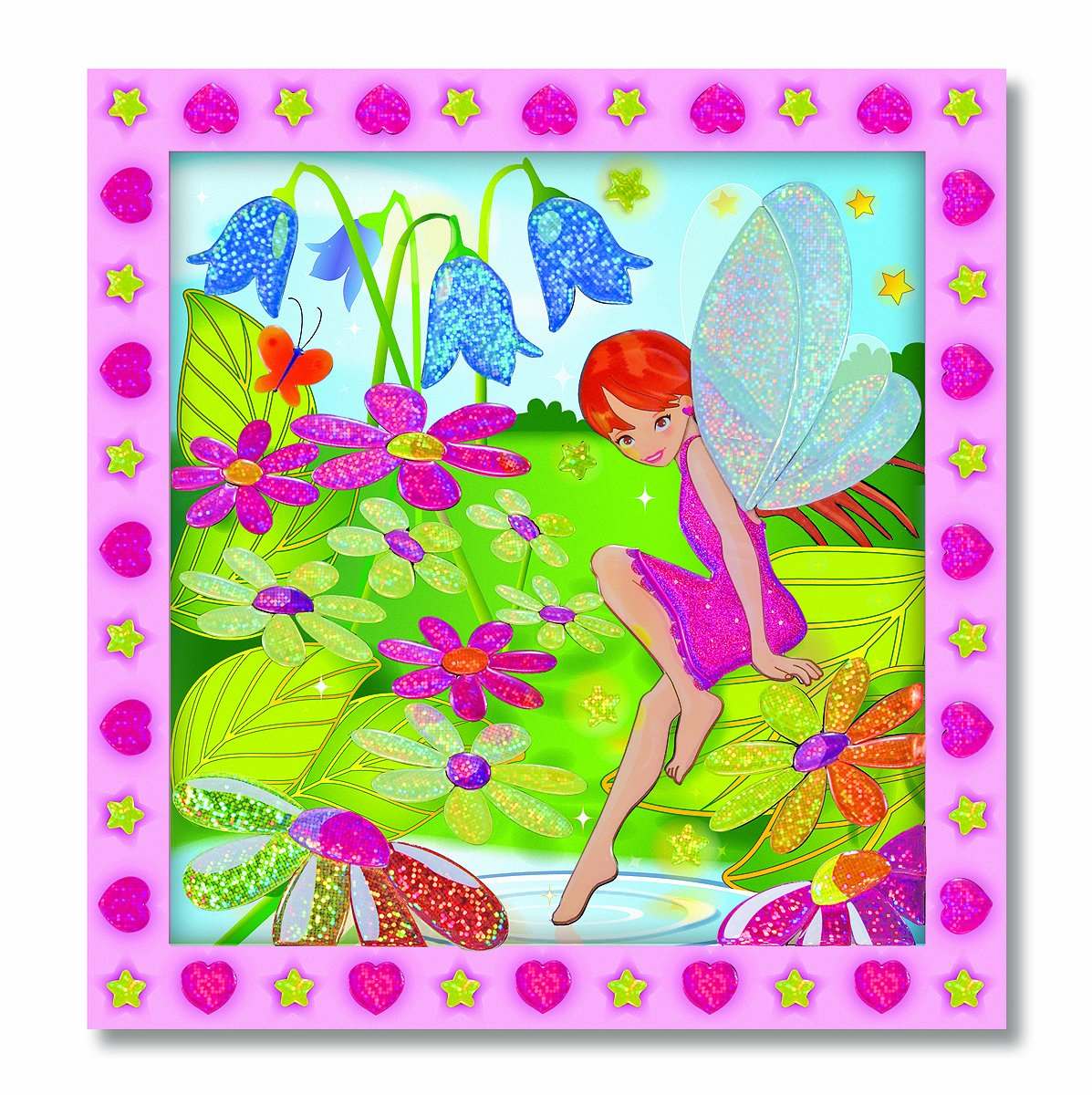 Melissa Doug Peel and Press Sticker by Number Activity Kit Flower Garden Fairy
