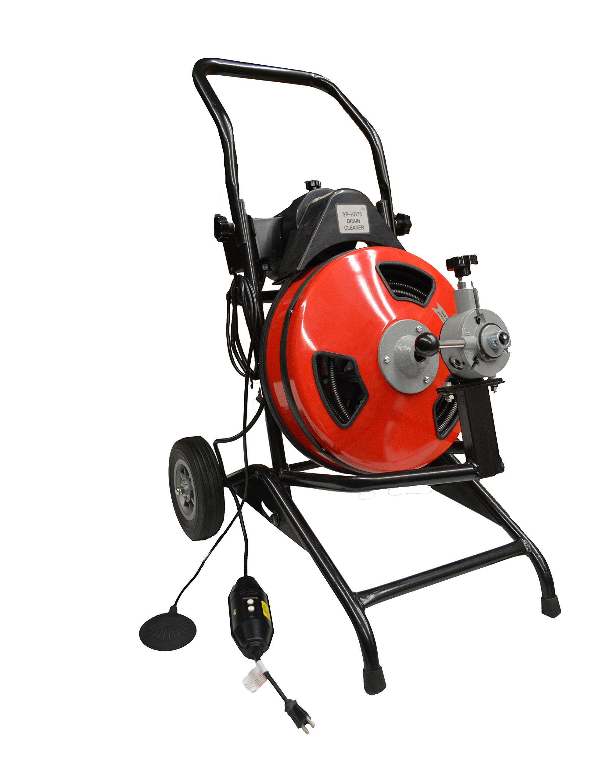 """550 Watt Portable Septic Tank Auger Main Line Home Plumbing Auger (100' ½"""" Cable) by EZ Travel Collection"""