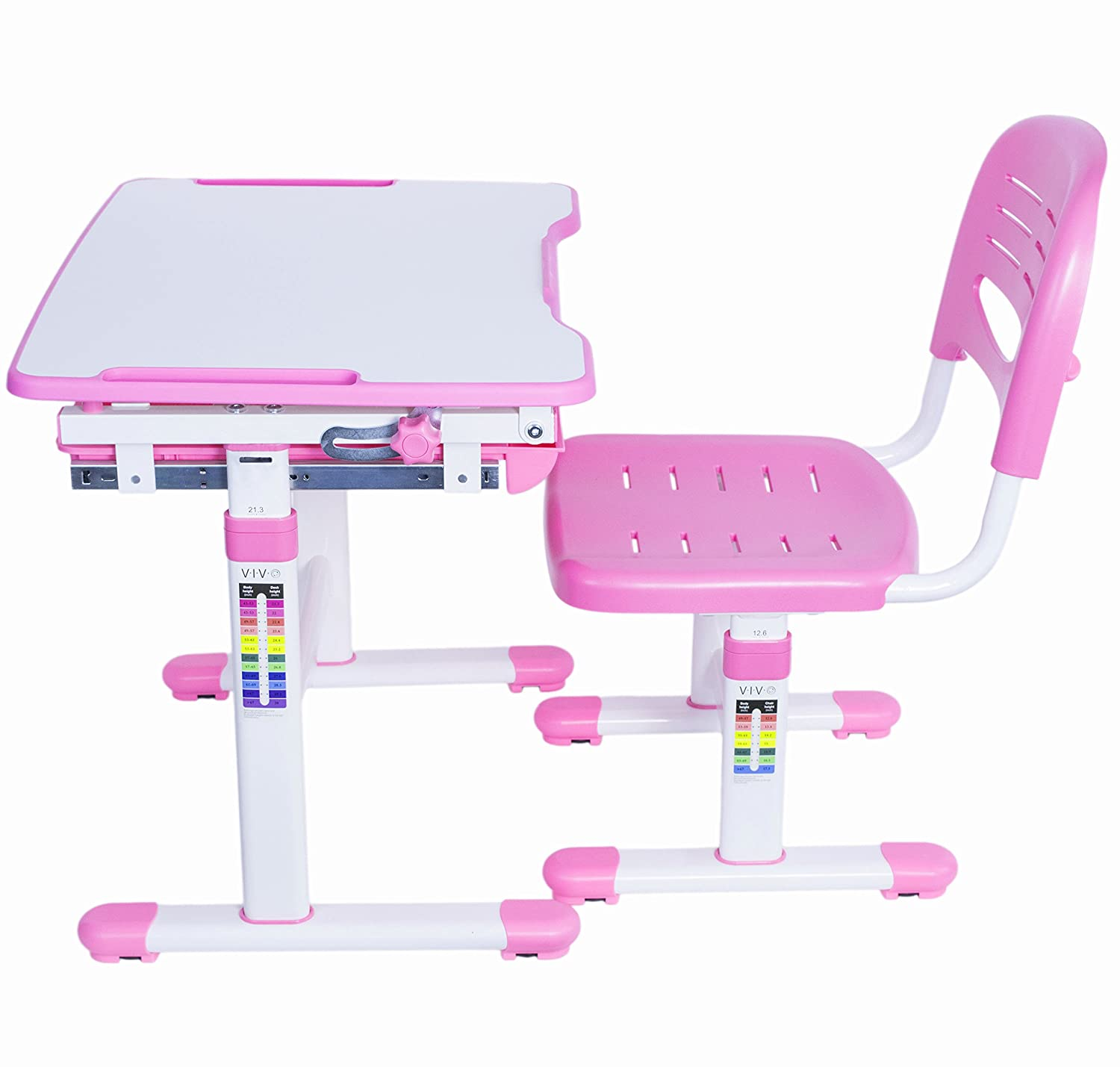 Amazon VIVO Height Adjustable Children s Desk and Chair Set