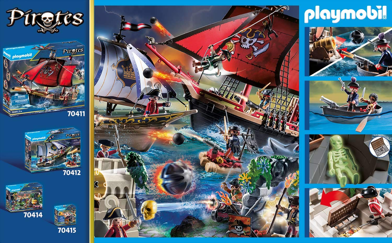 PLAYMOBIL Pirates - Bastión, A partir de 4 Años (70413): Amazon.es ...