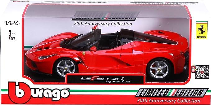 Rouge BBURAGO MAISTO FRANCE 26022 V/éhicule Miniature Ferrari Aperta Echelle 1//24