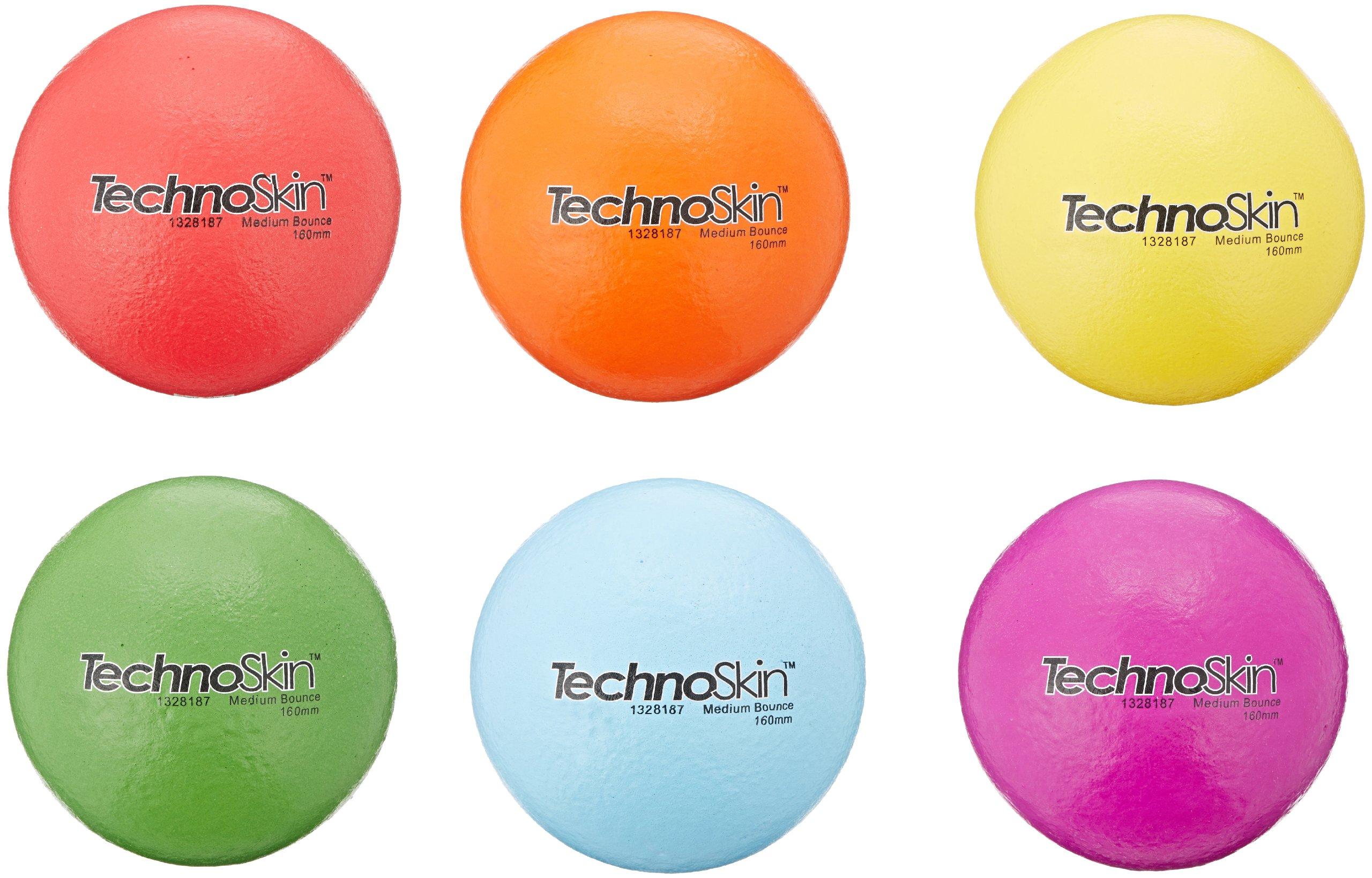 SportTime TechnoSkin Coated-Foam Medium Bounce Balls, 6-1/4 Inches, Set of 6