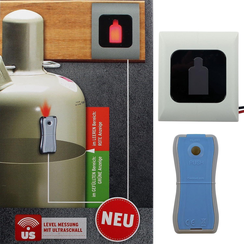 Bouteilles de gaz Indicateur Niveau de gaz® gl3001avec affichage à distance pour bouteilles de gaz propane 5, 11, 33kg 33kg Gaslock GmbH