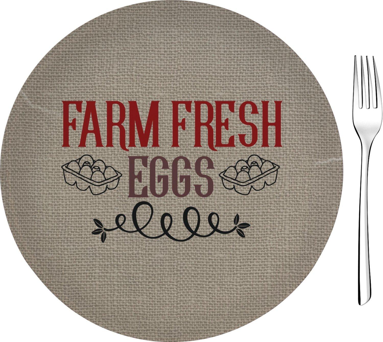 Amazon.com | Farm Quotes Glass Appetizer/Dessert Plate 8