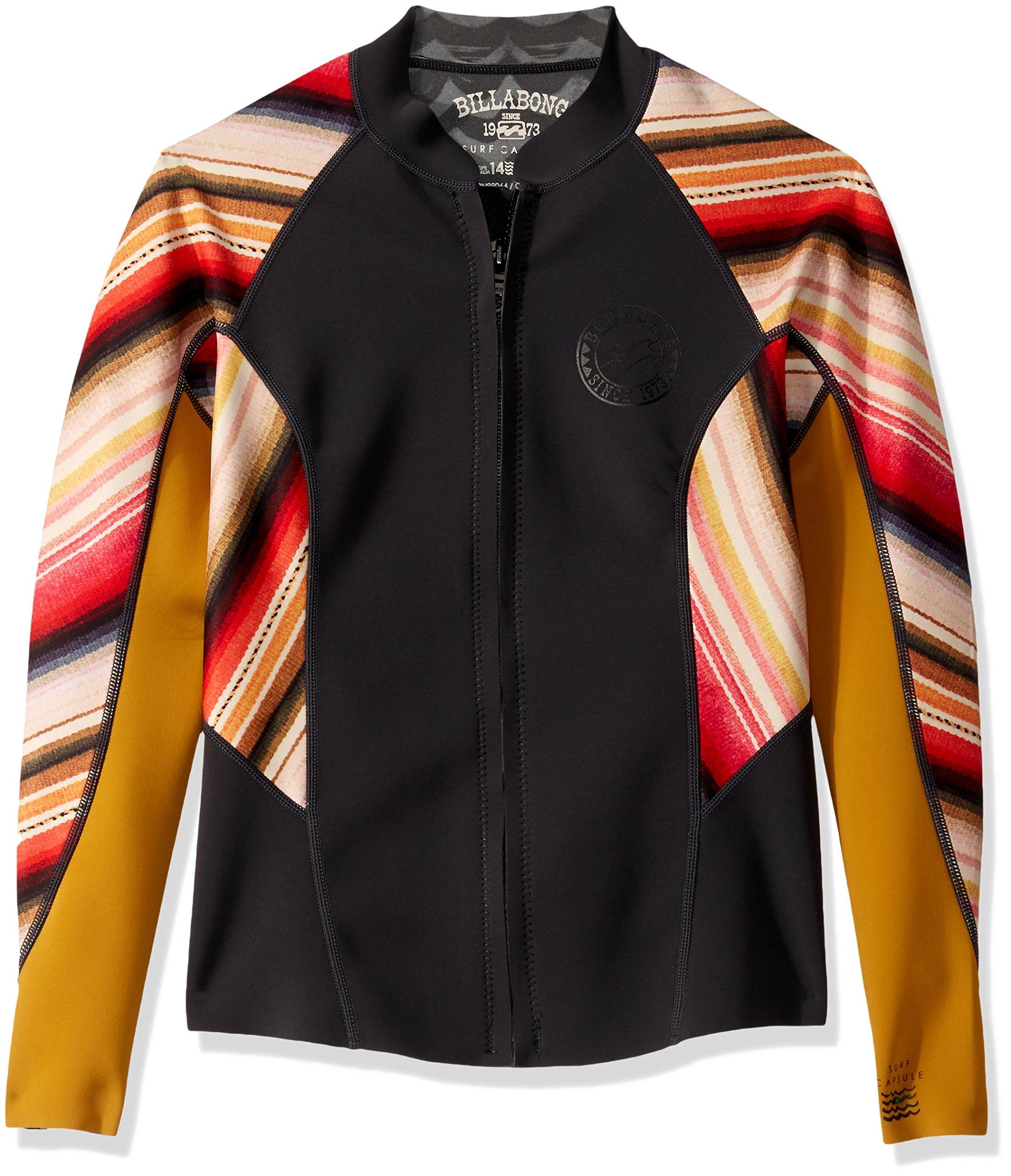 Billabong Women's Peeky Wetsuit Jacket, Serape, 6 by Billabong