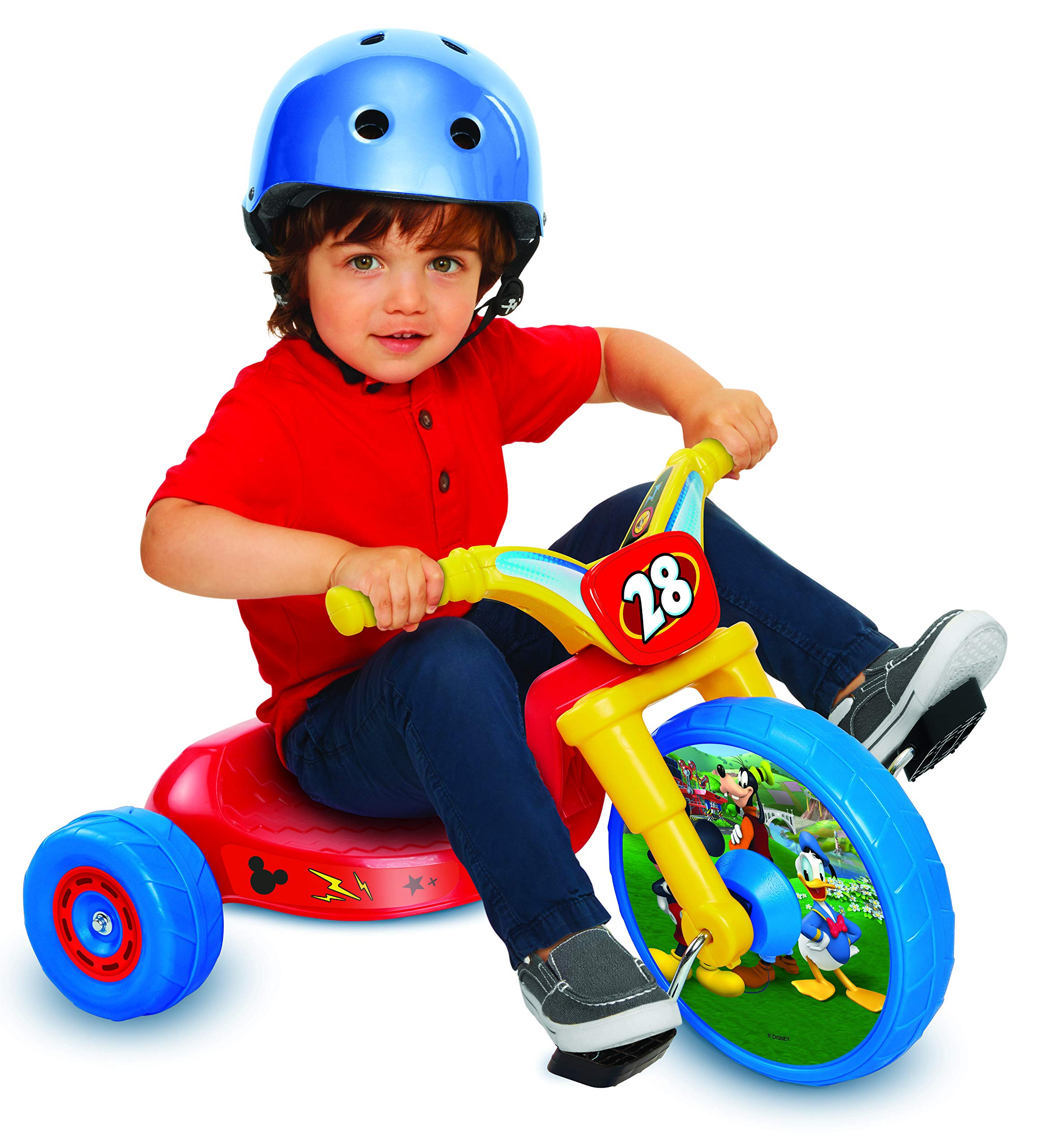 Mickey Mouse 10'' Fly Wheels Junior Cruiser Ride-On, Ages 2-4