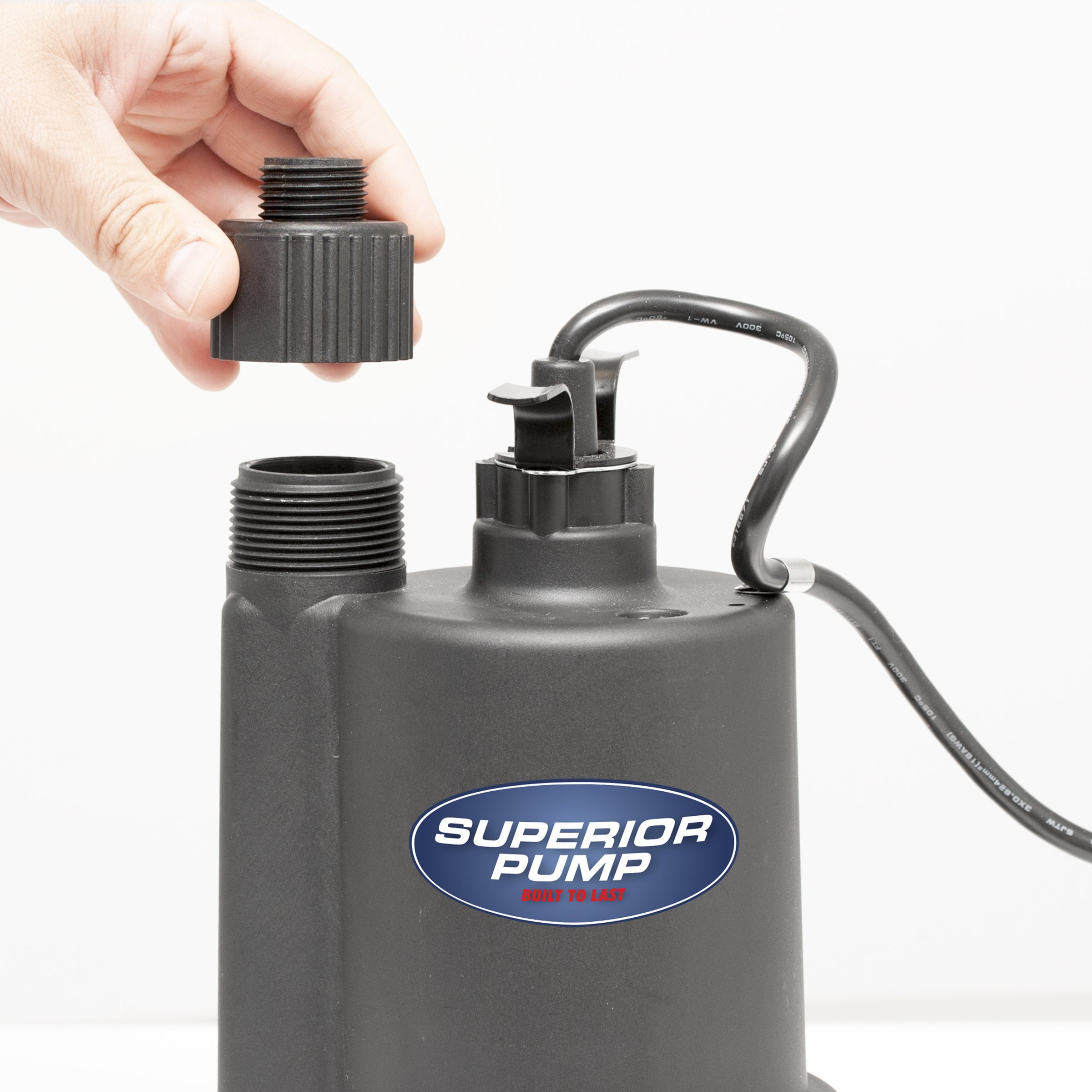 Superior Pump 91025 1/5 HP Thermoplastic Submersible Utility Pump with 10-Foot Cord by Superior Pump (Image #4)