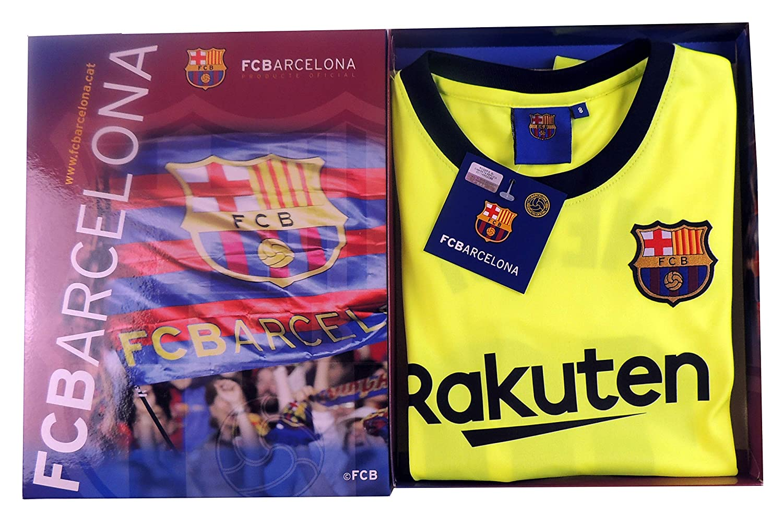 377765e2e1068 Kit Segunda Equipación Infantil Leo Messi del FC Barcelona Producto Oficial  Licenciado Temporada 2018-19  Amazon.es  Deportes y aire libre