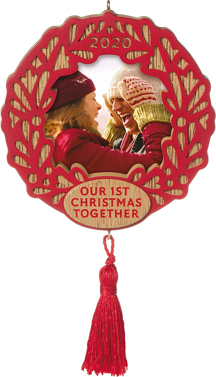Hallmark Keepsake Ornament 2020 Year-Dated, Our First Christmas Together Photo Frame