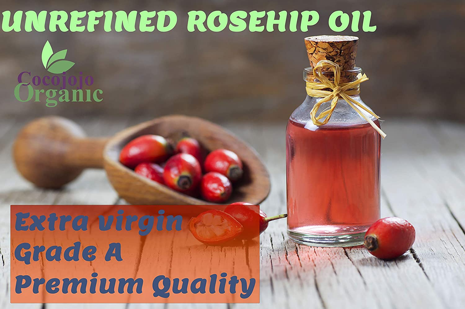 Rosehip Oil 16 oz 100% Pure Natural Cold Pressed Unrefined Extra Virgin Rosehip Seed Oil- Therapeutic Grade A for Hair Skin Body Nail and Beard