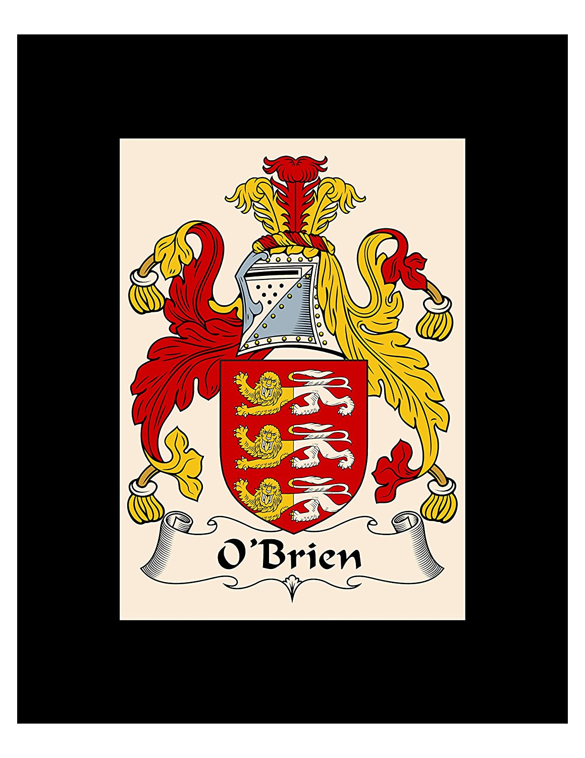 Carpe Diem Designs O'Brien Coat of Arms/O'Brien Family Crest 8X10 Photo Plaque, Personalized Gift, Wedding Gift