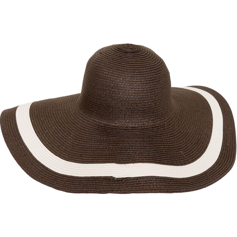 MG Solid Peak Ladies Large Wide Brim Toyo Sun Hat (Black) at Amazon Women s  Clothing store  2b0ed76e9a17