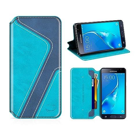 MOBESV Smiley Funda Cartera Samsung Galaxy J3 2016, Funda Cuero Movil Samsung J3 2016 Carcasa Case con Billetera/Soporte para Samsung Galaxy J3 2016 - ...