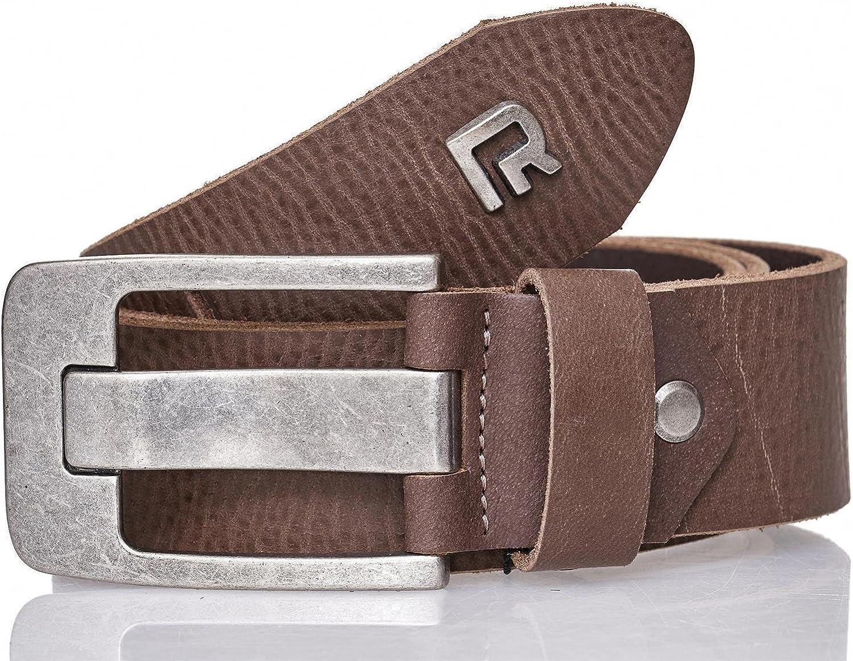 Cintur/ón Red Bridge de cuero puro para hombres