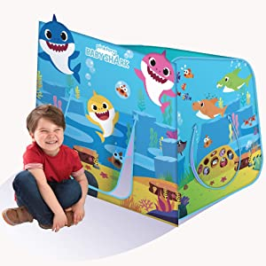 Playhut Pinkfong Baby Shark Hide N Play Pop-Up Play Tent Preschool Gift for Kids