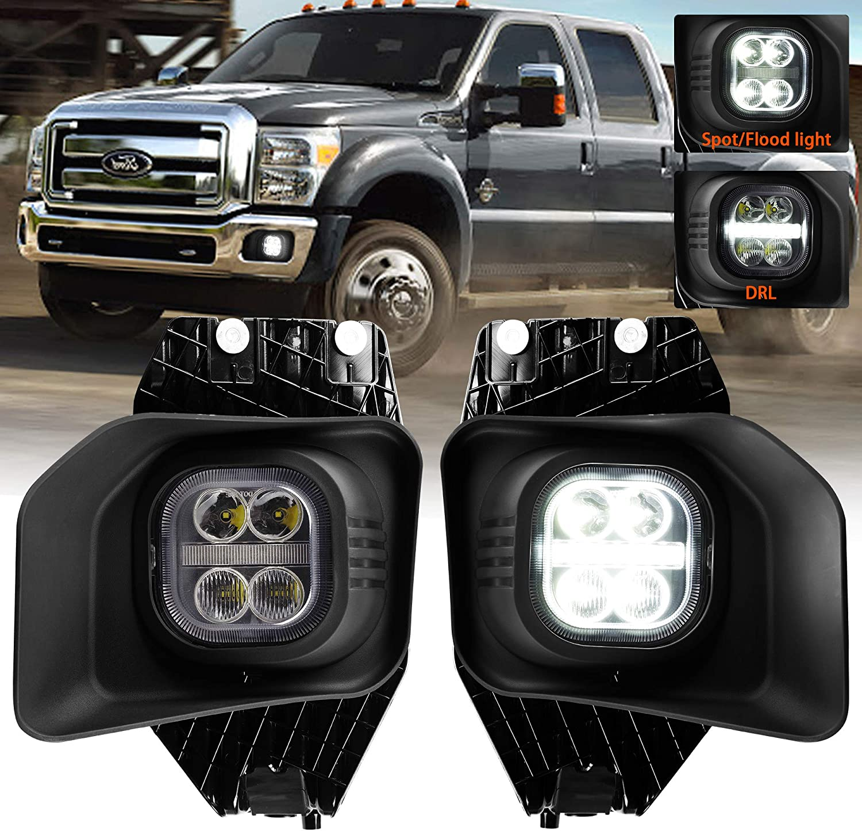 FOR 11-16 F250 F350 SUPER DUTY LED E-BAR PROJECTOR HEADLIGHT//LAMPS 12 13 14 16