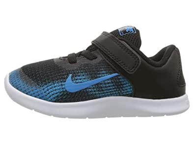 cdcfc11275aa Nike Boy s Flex RN 2018 Toddler Shoe Black Equator Blue White Size 5 M