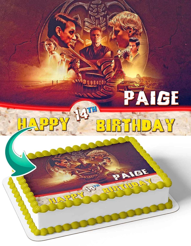 Pack of 2 Large Cobra Kai Karate Personalised Childrens Birthday Banner