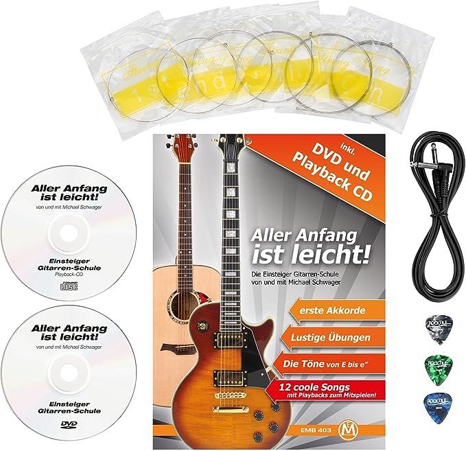Rocktile LP-100 BL Guitare /électrique Black avec accessoires