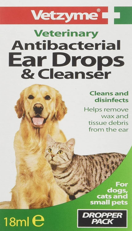Vetzyme Antibacterial Ear Drops & Cleanser Bob Martin S5199