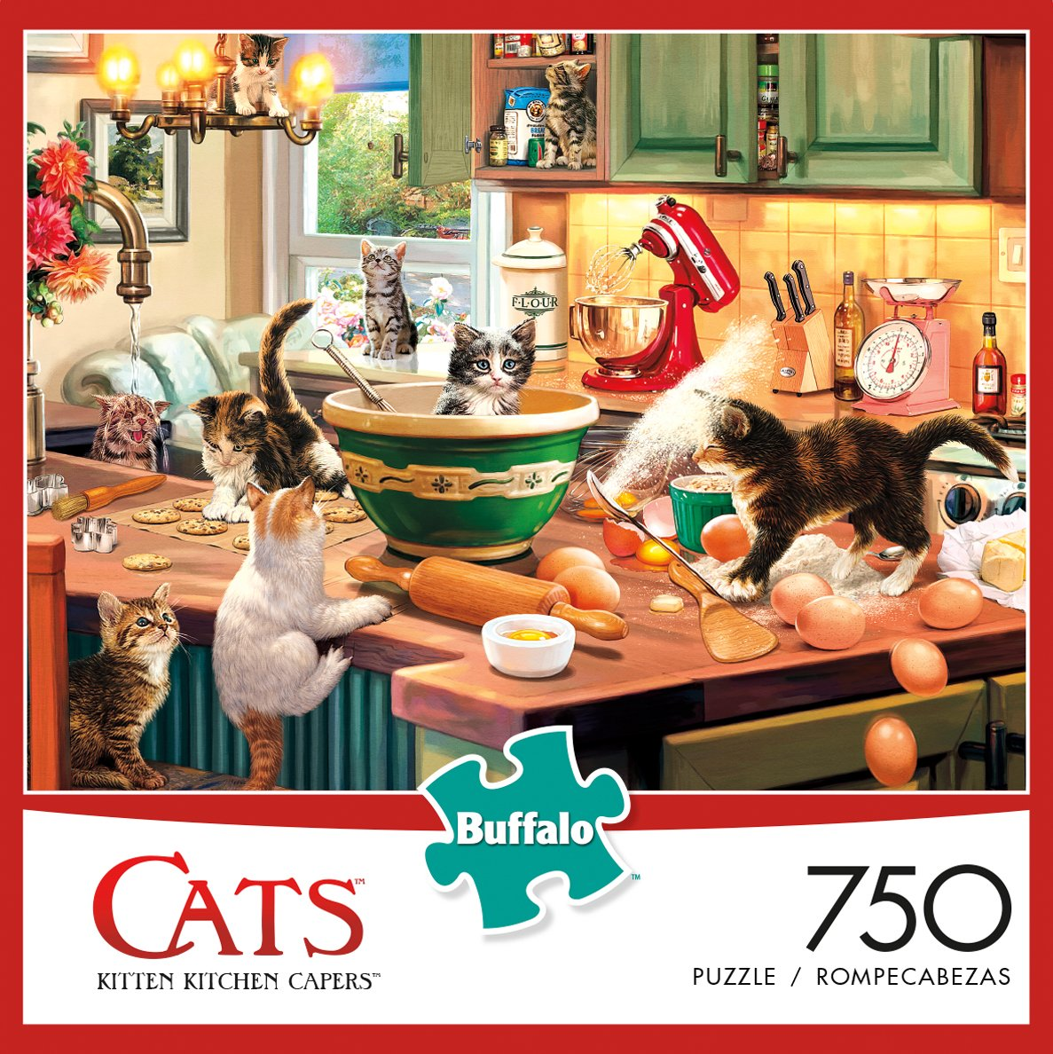 Amazon.com: Buffalo Games - Cats Collection - Kitten Kitchen Capers ...