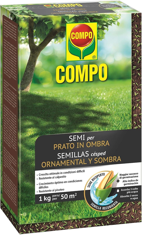Compo Semillas de césped Ornamental y Sombra, para 50 m², 1 kg, 2358302011