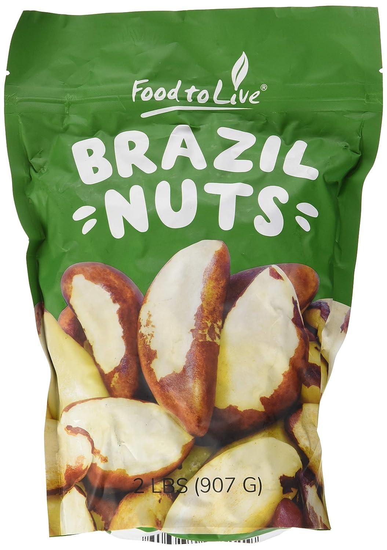 Food to Live Las nueces crudas de Brasil (enteras, sin cáscara, sin sal y naturales) 906 gramos: Amazon.es: Alimentación y bebidas