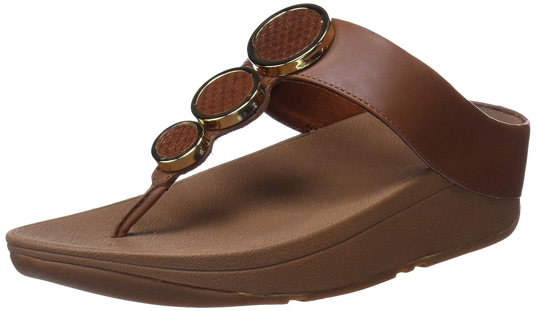 FitFlop Damen Halo Toe Thong Sandales (Dark PlateauSandale Braun (Dark Sandales Tan 277) 49e016