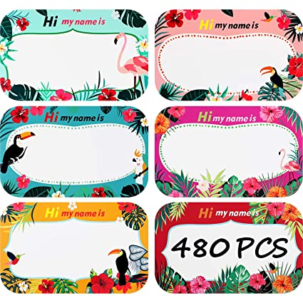 480 Pieces Name Tag Label Sticker Hi My Name Is Stickers
