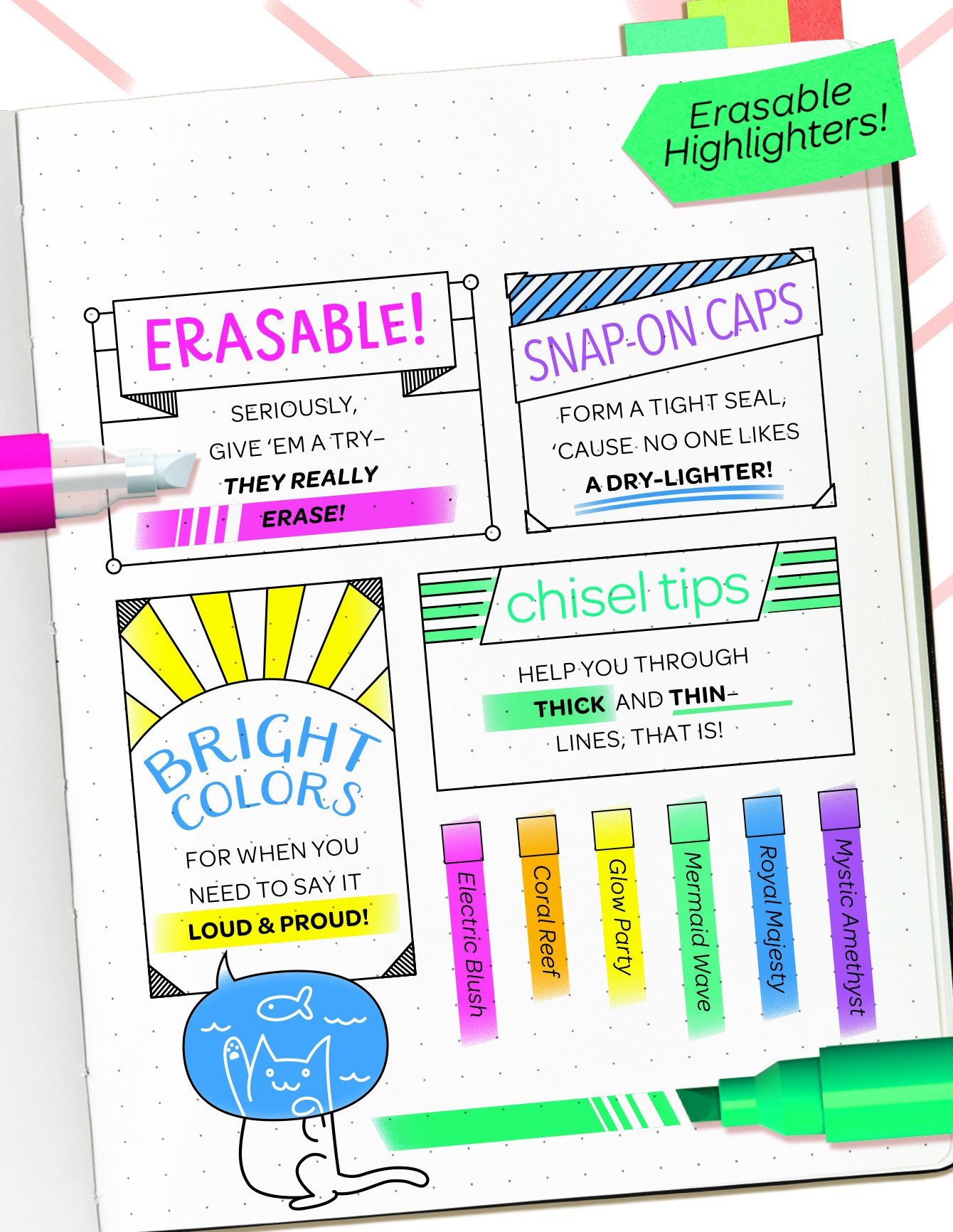 Crayola Take Note! Erasable Highlighters, Bullet Journal & School Supplies, 18Count, Gift by Crayola (Image #5)