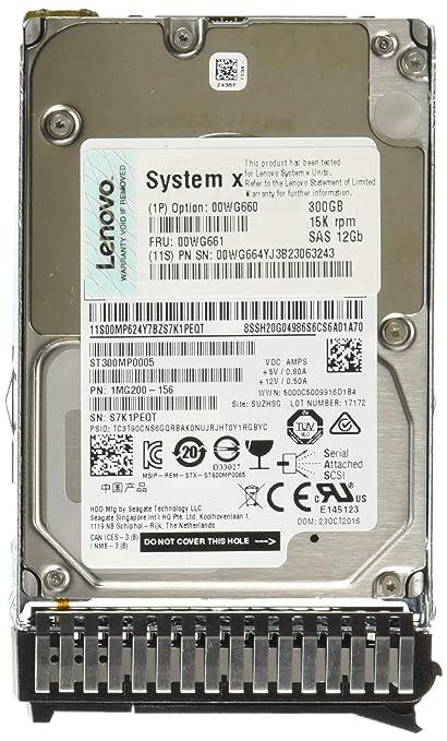 Amazon com: Lenovo 00WG660 System X 300GB 2 5