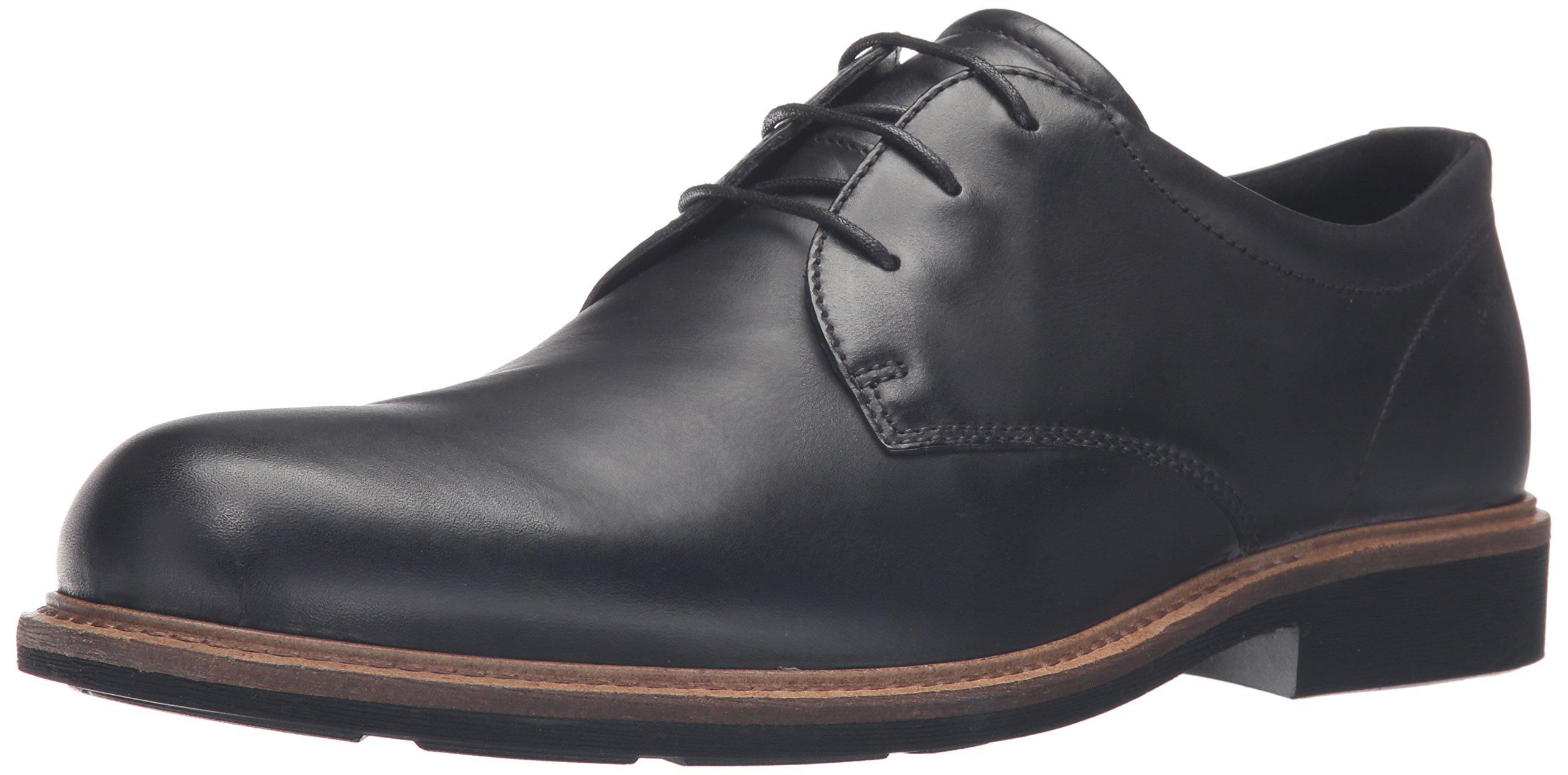 ECCO Men's Findlay Plain Toe Tie Oxford,Black,39 EU/5-5.5 M US