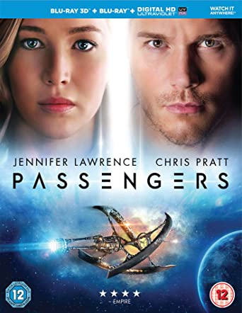 Image result for passengers 2016 blu-ray uk