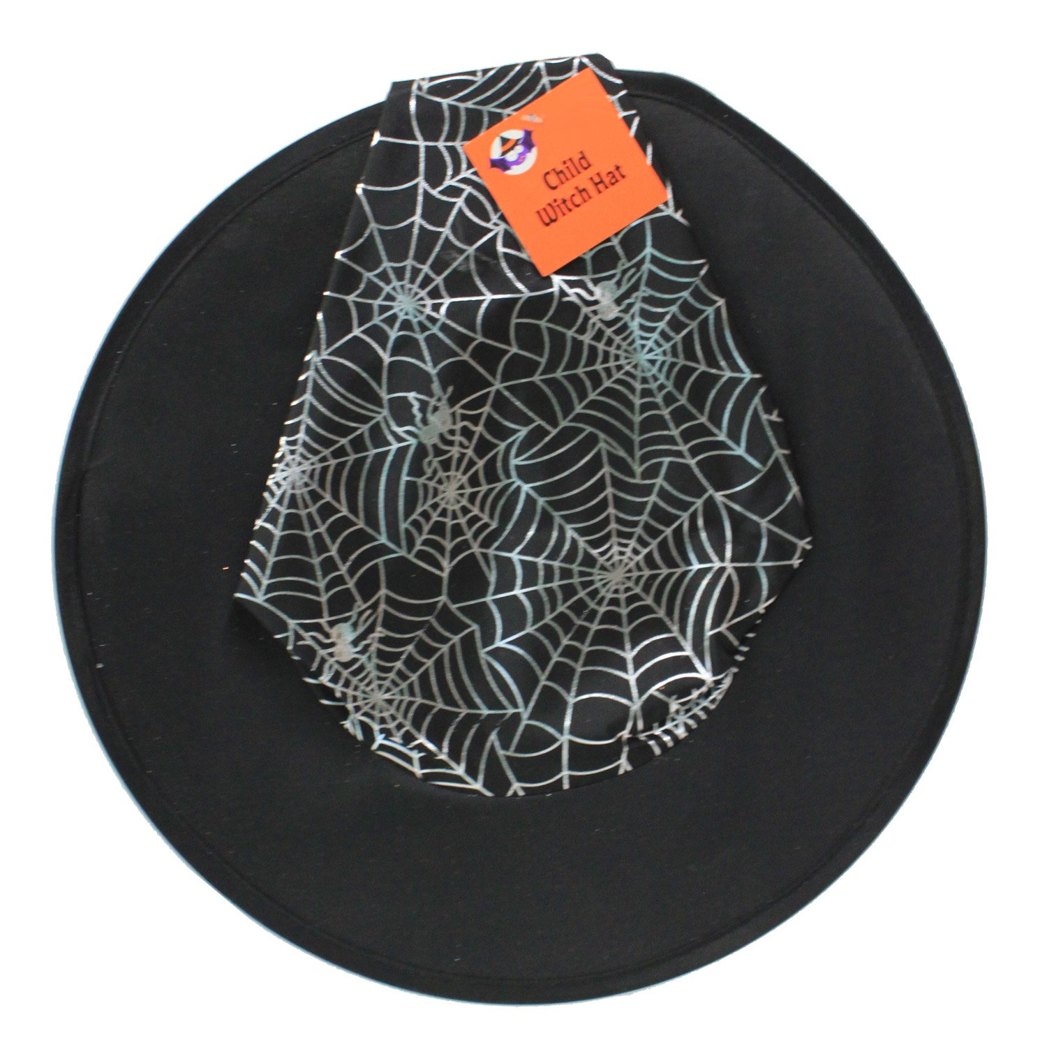 41bda79077d Amazon.com  Happy Home Gifts Black Witch Hat with Silver Spider Webs   Clothing