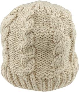 Doux bébé filles garçons Hiver au chaud Chunky câble Bonnet en tricot Chapeau jusqu'à 24mois rose fuchsia taille unique Glamour Girlz