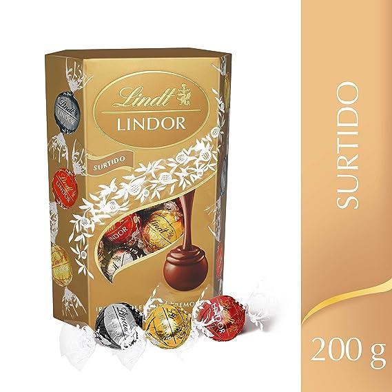 Lindt - Lindor - Surtido de Bombones con un Tierno Corazón de Chocolate - 200 g