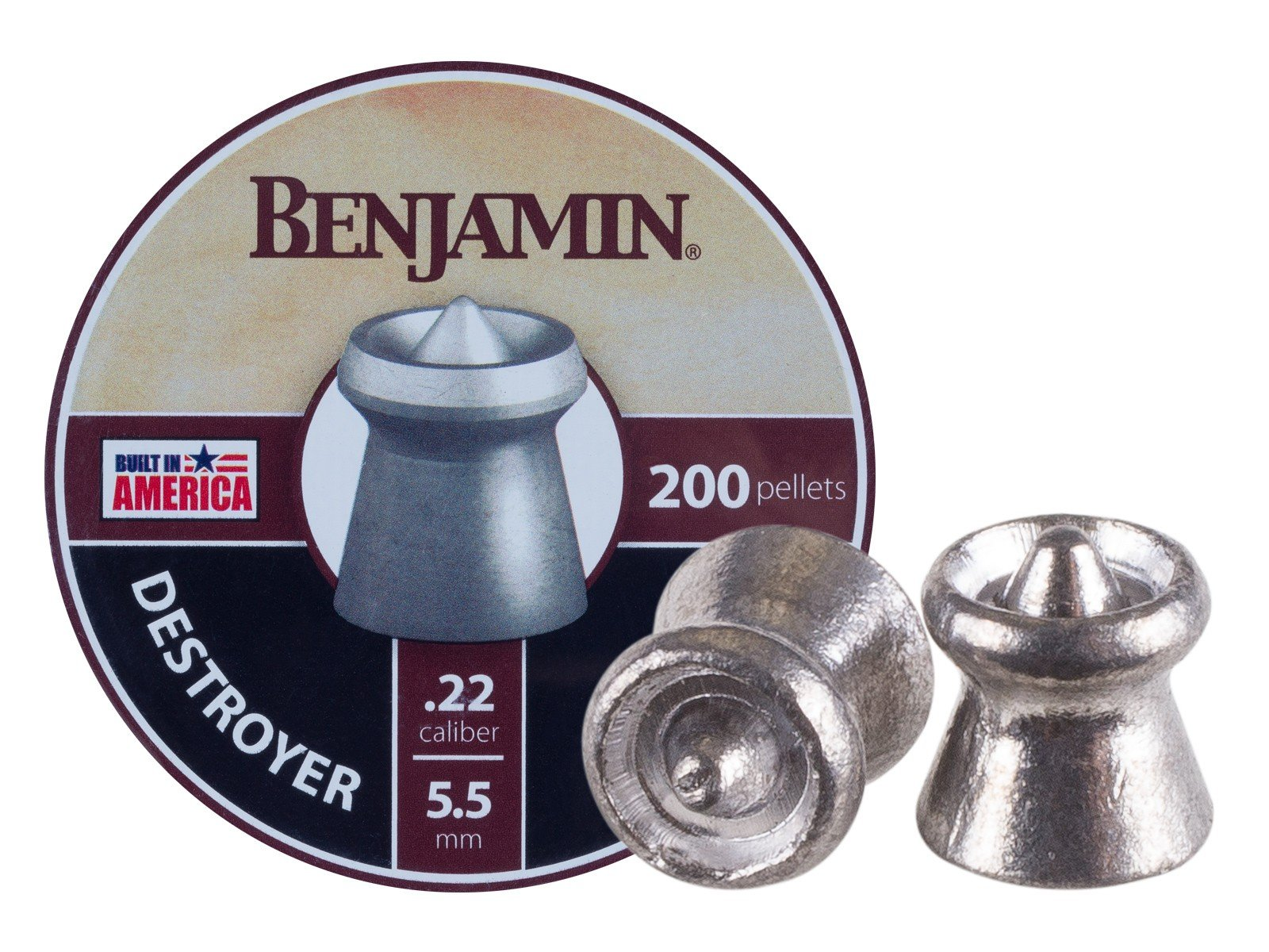 Benjamin Destroyer .22 Cal, 14.3 Grains, Pointed Expanding, 200ct
