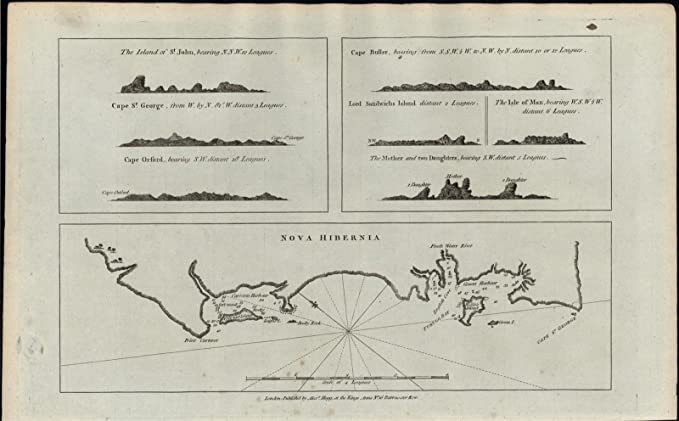 Amazon Com Nova Hibernia New Ireland Province 1780 Old Capt Cook