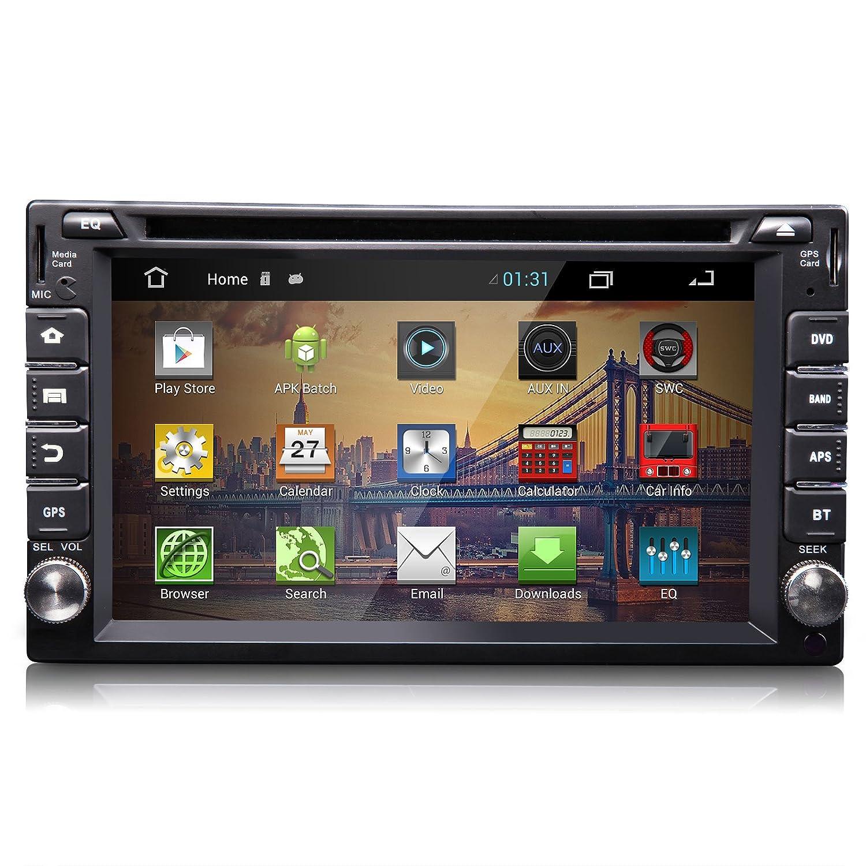 Eonon G2111 Android 4,2 Sistema operativo 2 DIN 6.2 Pulgadas Coche Reproductor de DVD Sistema de Sat Nav GPS Bluetooth Pantalla táctil Radio estéreo MP3 USB ...