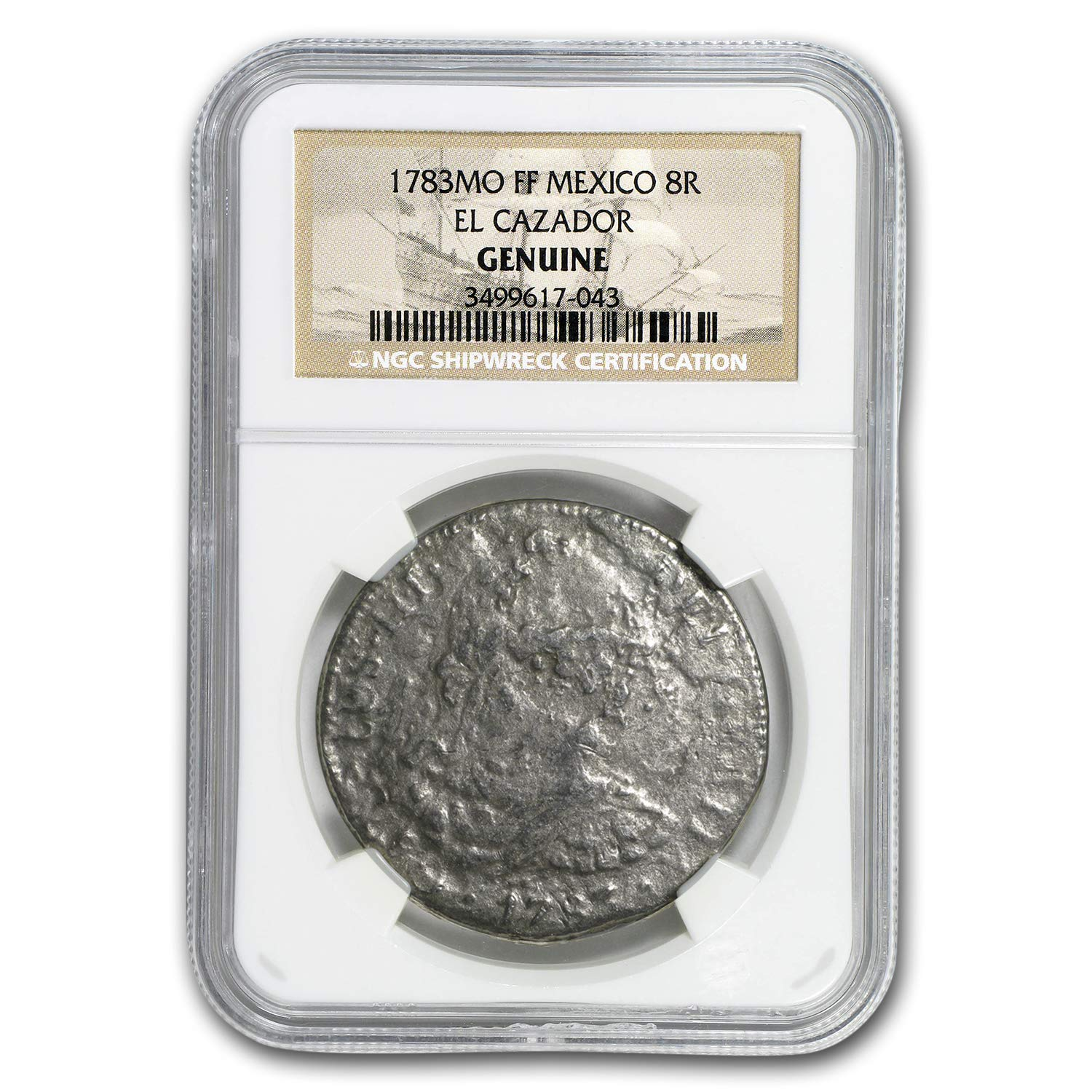 1783 MX FF Mexico Silver 8 Reales Shipwreck Coin NGC Very Good At Amazons Collectible Coins Store