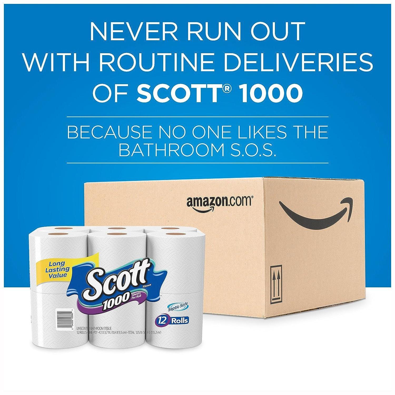 White cloud bathroom tissue - Amazon Com Scott 1000 Sheets Per Roll Toilet Paper 27 Rolls Bath Tissue Health Personal Care