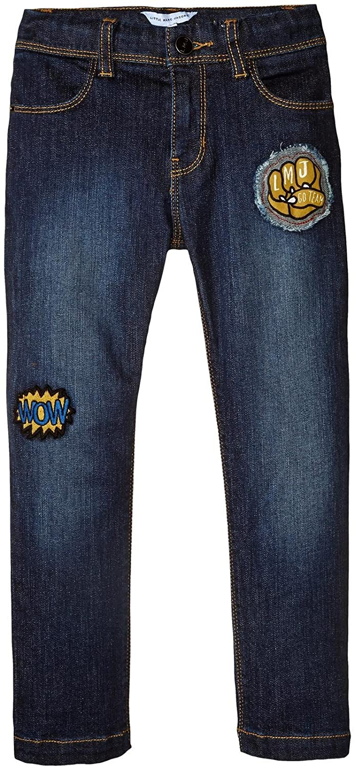 Little Marc Jacobs Baby Boys Denim Trousers with Funny Patches