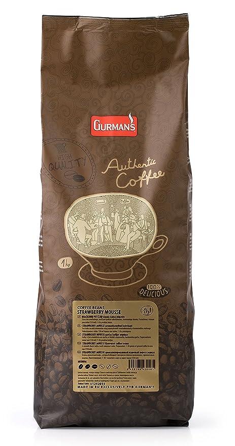 GURMANs MOUSSE DE FRESA Café en grano aromatizado 1 kg: Amazon.es: Alimentación y bebidas