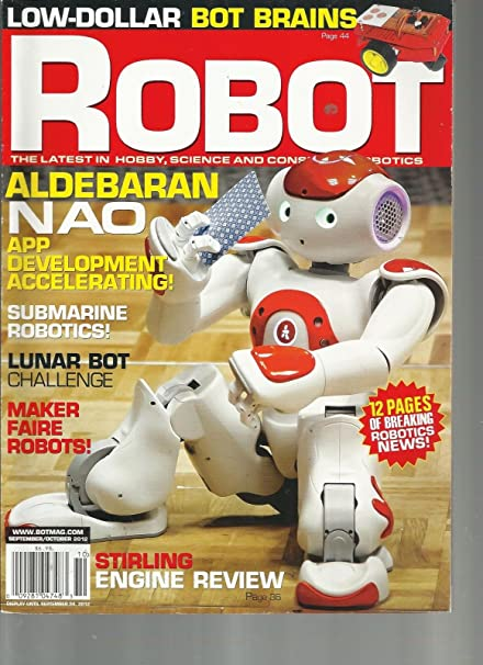 Amazon com: ROBOT, SEPTEMBER/OCTOBER, 2012 (12 PAGES OF