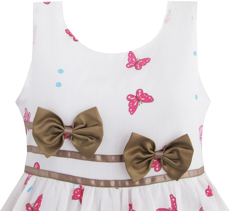 1ab6bddb3dcac Bingua.com - Sunny Fashion Girls Dress Rose Flower Double Bow Tie ...