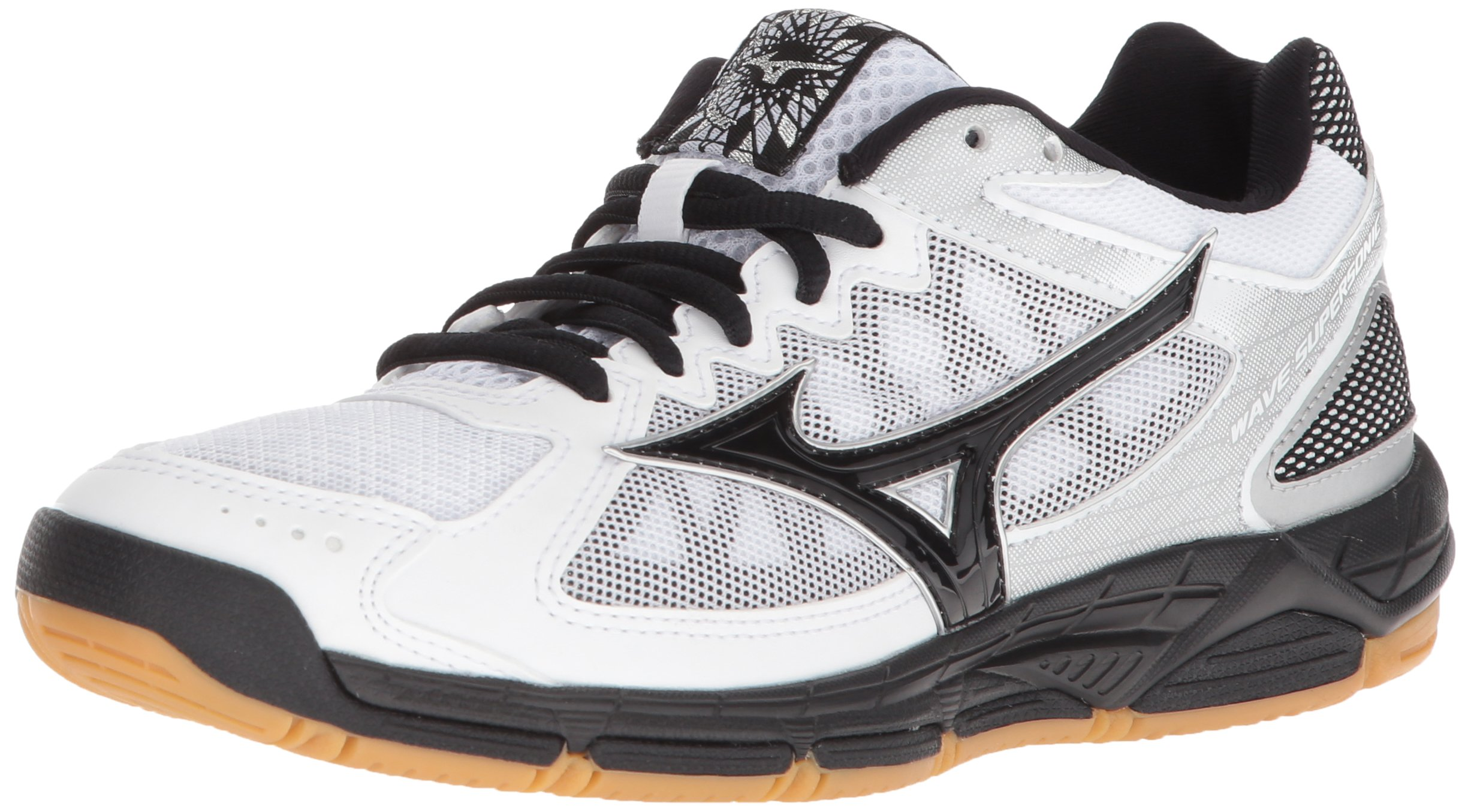 WAVE SUPERSONIC WOMENS WHITE-BLACK 9.5 White/Black by Mizuno