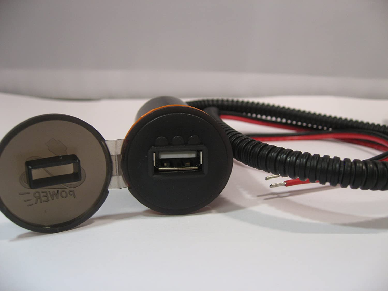 Shkusb002 SharkMotorcycleAudio Motorcycle Usb Power Outlet w//Build-in Led Battery Indicator No Drilling Required