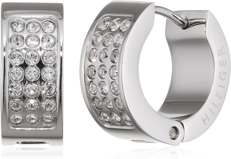 Tommy Hilfiger Jewelry Mujer acero inoxidable Pendientes de aro 2700572