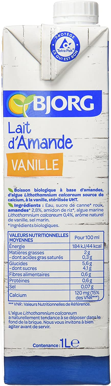 BJORG Leche Vainilla De La Almendra Bio 1 Llot 6: Amazon.es: Alimentación y bebidas